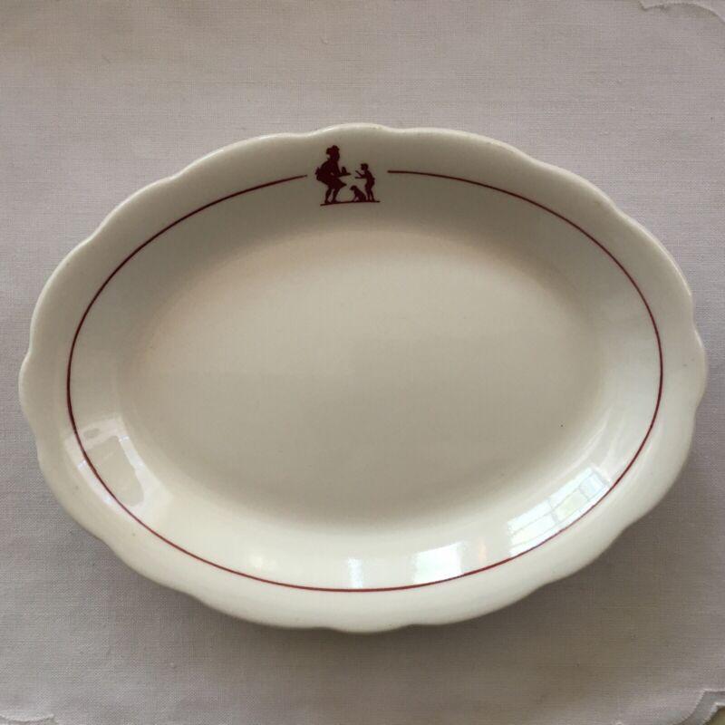 Vintage Buffalo China Howard Johnson Hotel Oval Plates Restaurant Ware