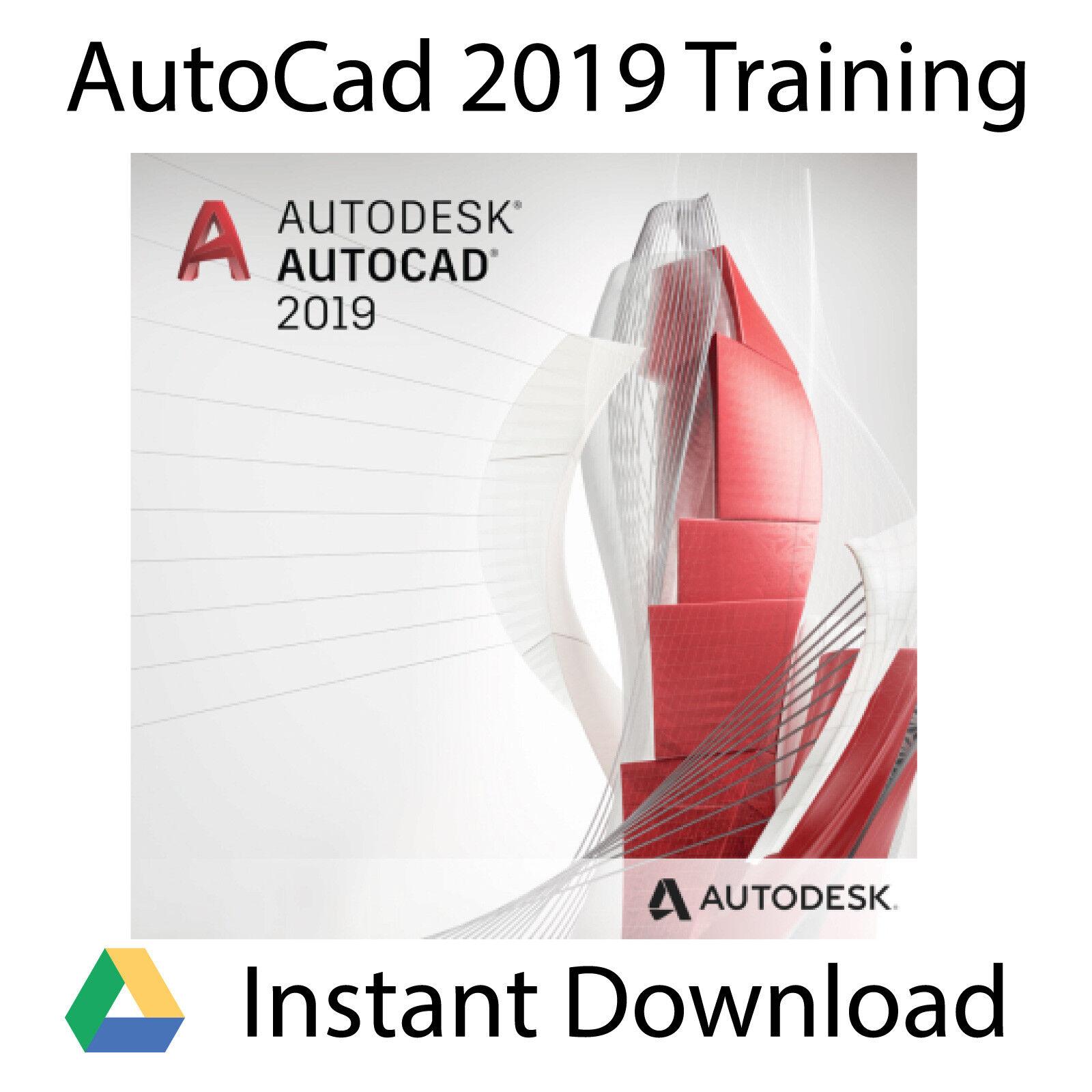 Autodesk AutoCAD 2019 Professional Video Training Tutorial - Instant Download