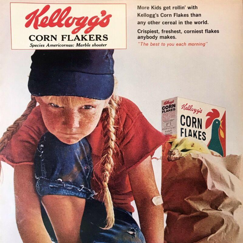 1965 Adorable Child Marbles Bag Kellogg