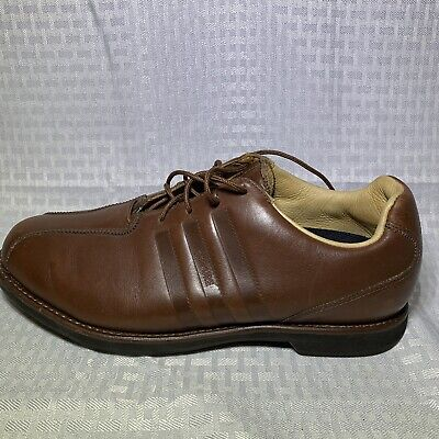 Adidas Adipure Leather (ADIDAS ADIPURE Redwood Brown Leather TRAXION Golf Shoes Size)