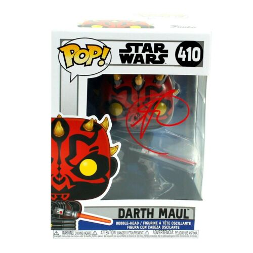 Ray Park Autographed Funko Pop Darth Maul #410 Star Wars Clone JSA COA Signed
