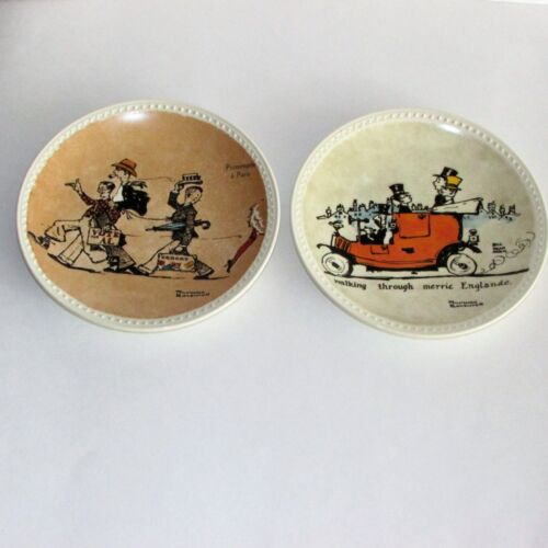NORMAN ROCKWELL COLLECTOR PLATES ON TOUR PARIS MERRIE ENGLAND 1982 COA VINTAGE