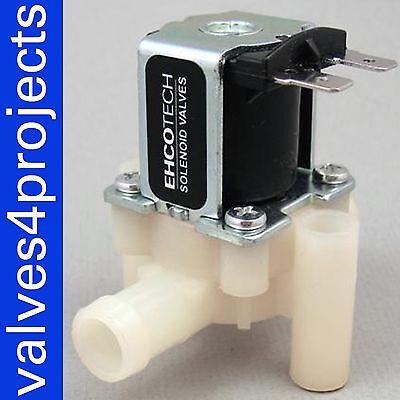 "1/2"" 12VDC Hose Barb Electric Solenoid Valve Plastic Body Water 12-volt N/C"