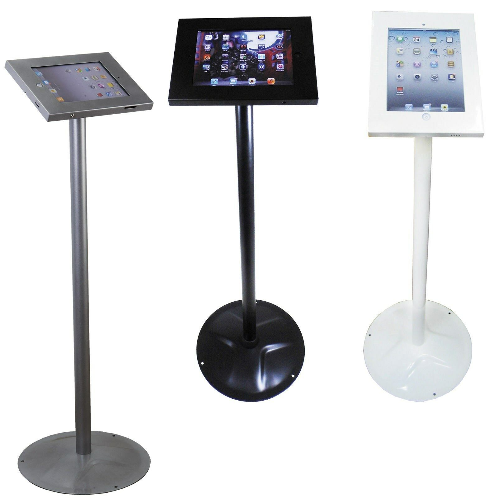 Exhibition Stand Floor : Ipad air anti theft secure floor stand display