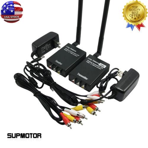 3W Wireless Video Transmitter Receiver Monitor Wireless Long Distance TX RX USA
