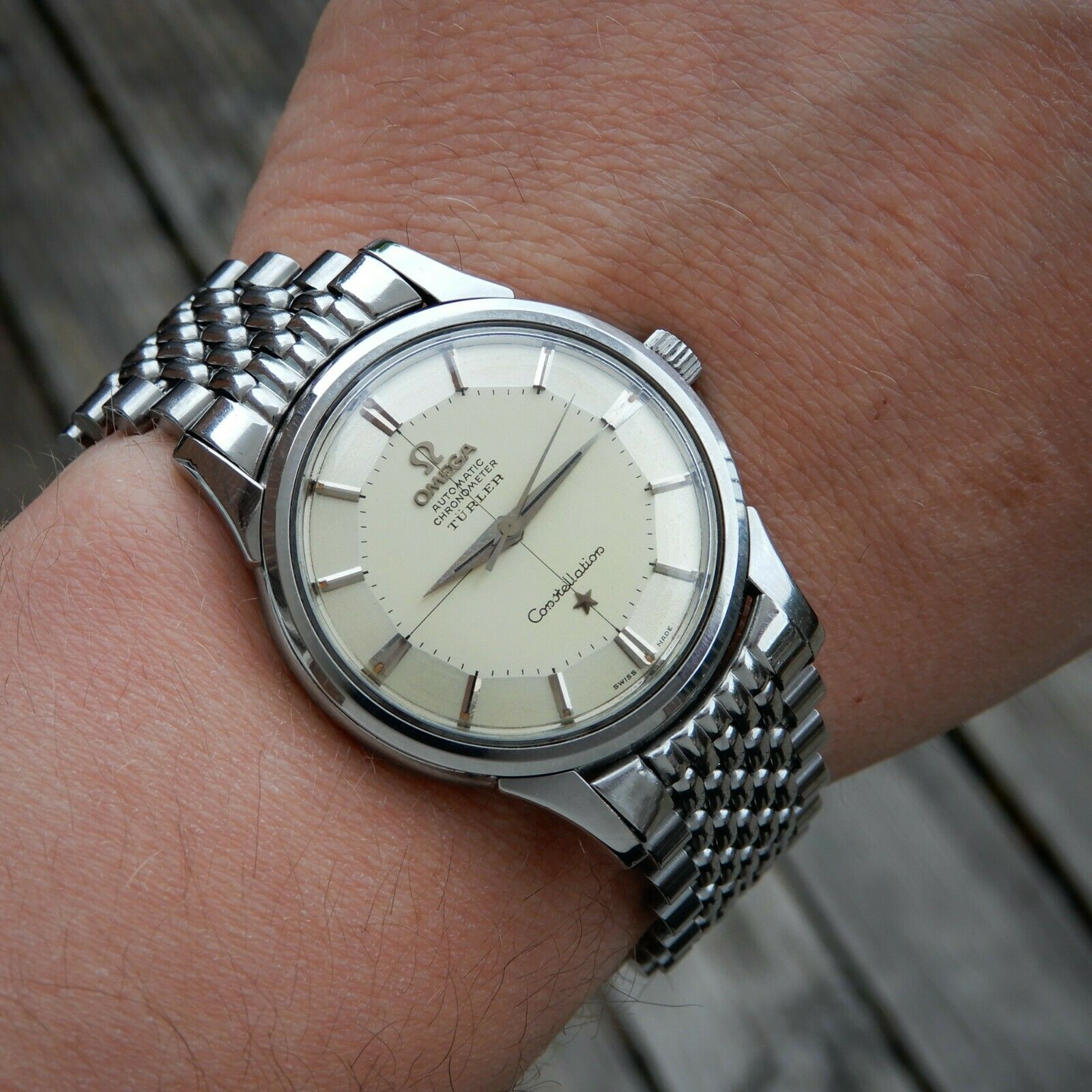 Omega TURLER Pie Pan Constellation Chronometer Cal 551 Ref 14381 Vintage 1959 - watch picture 1
