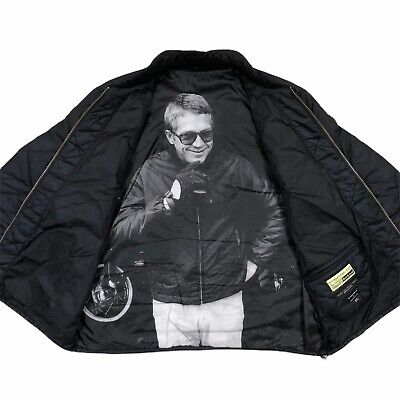 Barbour International Steve McQueen Collection Quilted Jacket Size XXL 2XL Black