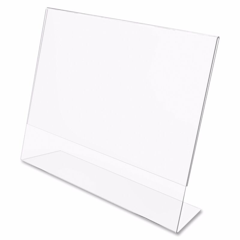 """Dazzling Displays 50 Acrylic 7"""" x 5"""" Slanted Picture Frame Holders"""