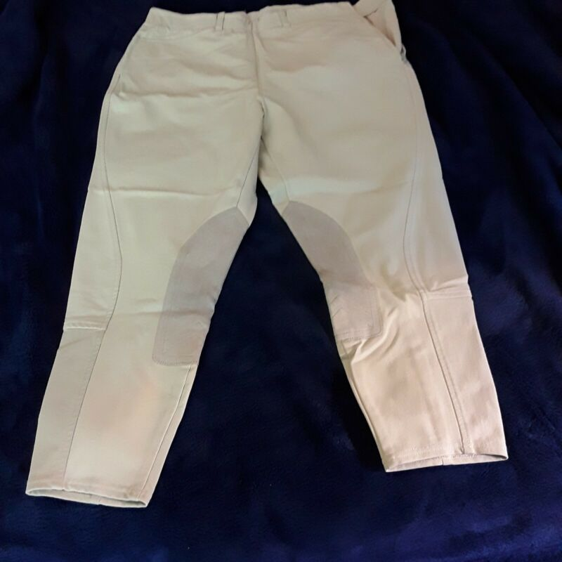 Ariat Pro Circuit breeches, 34R, beige, side zip, lightly used