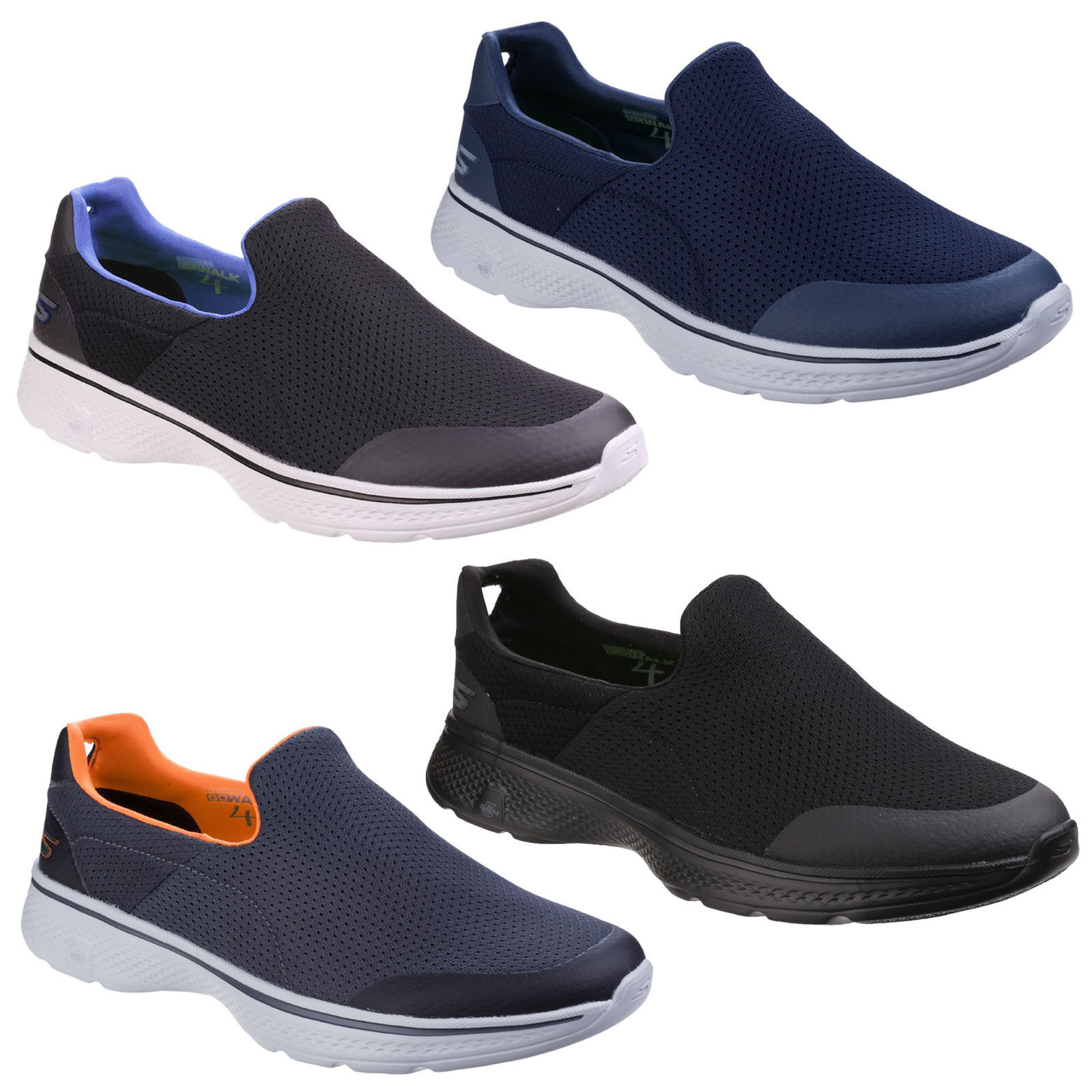 Details about Skechers Go Walk 4 Incredible Trainers Mens Summer Slip On