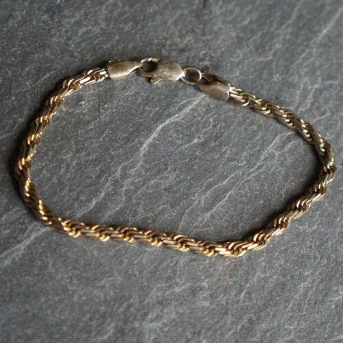Vintage Bracelet - Rope - Gold Tone Metal