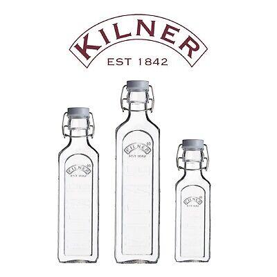Kilner Clip-Top / Swing-Top Preserve Bottles for Cordials, Oil, Juice & Sloe Gin
