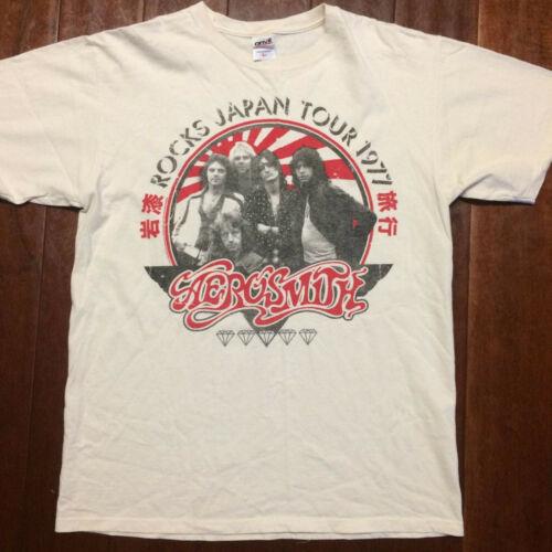 AEROSMITH ROCKS JAPAN TOUR 1977 SHIRT NEW!