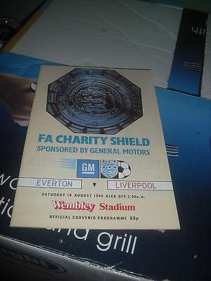 1984 Charity Shield programme Liverpool Everton scouse Merseyside FA
