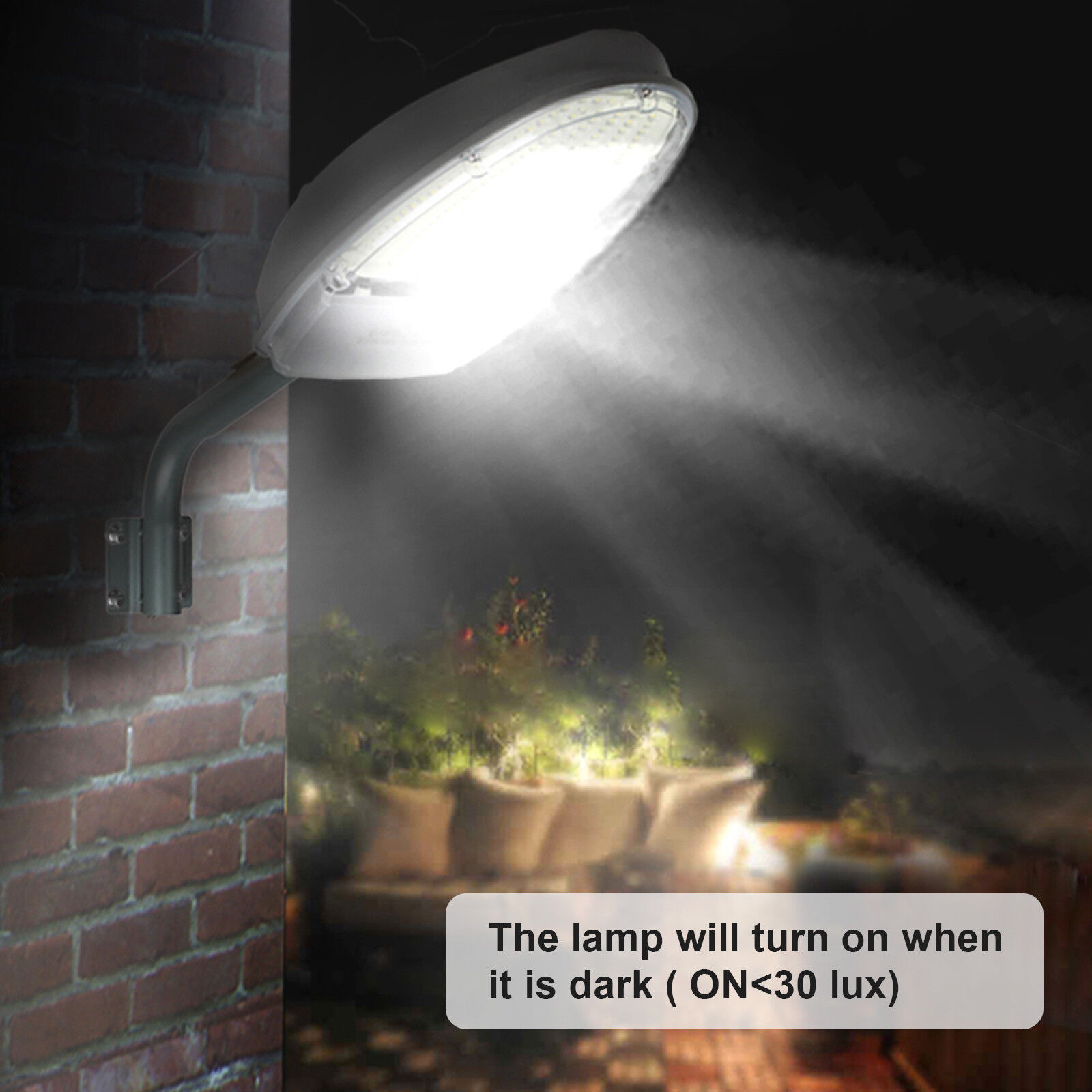 Outdoor LED Street Light 2500LM Dusk to Dawn Sensor Waterproof Security Lighting 3