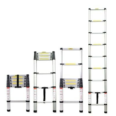 6.5ft 8.5ft 10.5ft Aluminum Multi-purpose Telescopic Ladder Extension Loft Steps