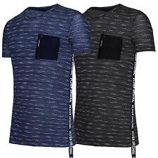 T-shirt homme Coton Jersey Casual Slim Fit T-shirt Mi Manche Courte