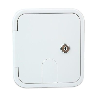 Electric Cable Hatch - Polar White Square Electric Cable Hatch Back RV Camper Trailer Parts Home   3SW