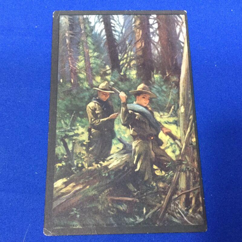 Boy Scout Vintage Postcard Blazing A Trail