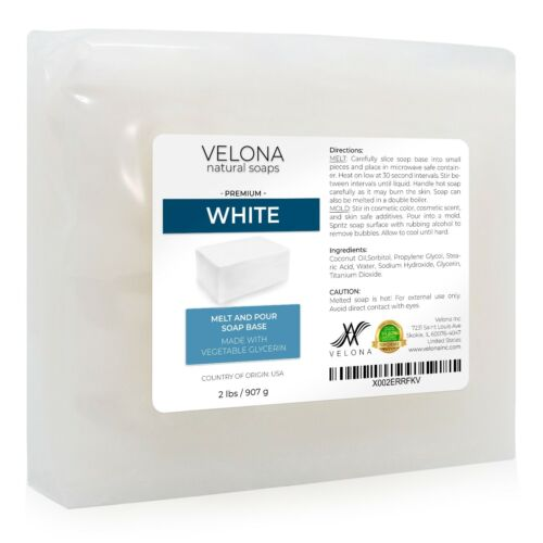 White Melt and Pour Soap Base by Velona | SLS/SLES Free