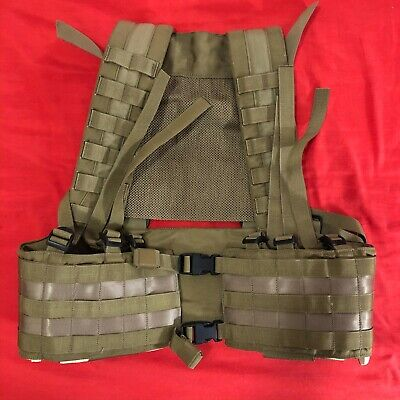 Eagle Industries MLCS Black Buckle H-Harness Chest Rig MLCS MJK Khaki Tan for sale  Italy