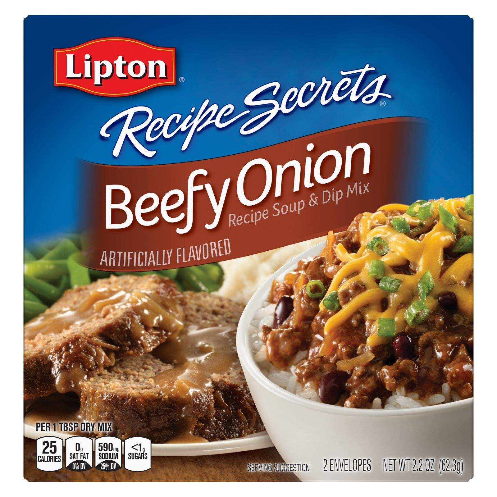 Lipton Beefy Onion Soup and Dip Mix, 2.2 oz ( Pack of 3 ...