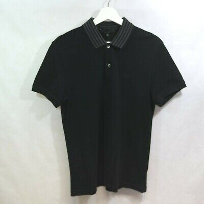 GUCCI MENS BLACK POLO SHIRT - SIZE MEDIUM