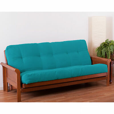 "Blazing Needles Renewal 7""Twill Queen-size Futon Mattress Aq"