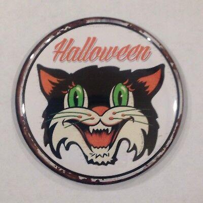 Halloween Cat Vintage Style Fridge Magnet Buy 1 Get 1 FREE