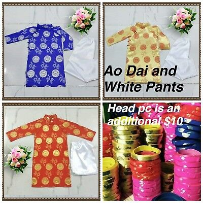 NEW Vietnamese Chinese Traditional Dress for Kids  Boys AO DAI TRE EM TET VIET (Chinese Attire For Kids)