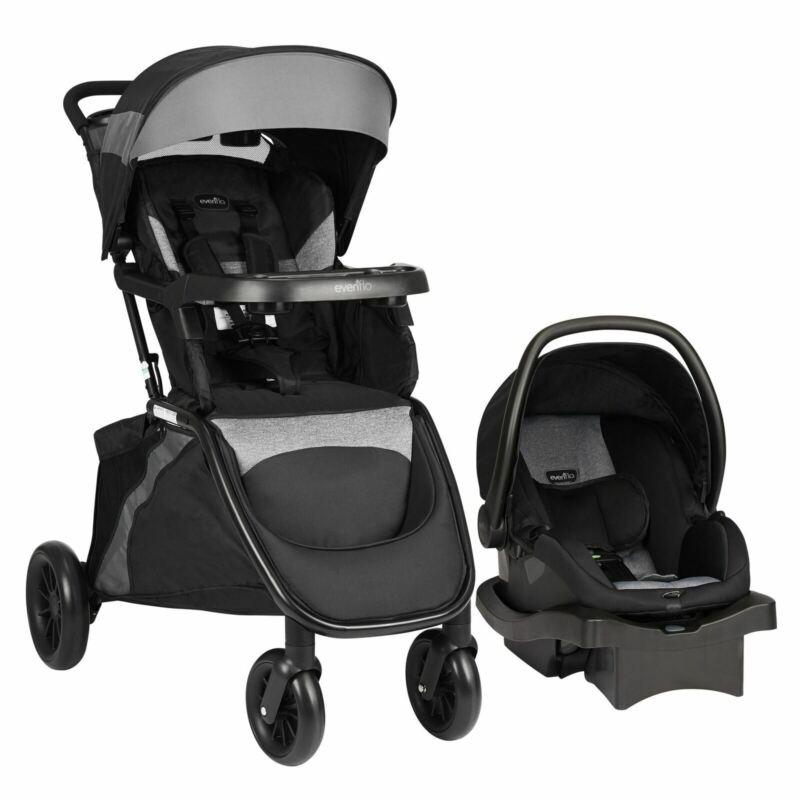 Evenflo Advanced SensorSafe Epic Travel System w/ LiteMax Infant Car Seat, Jet