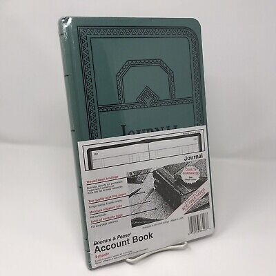 Boorum Pease Recordaccount Book Journal Rule Blue 300 Pages 12 18 X 7 58