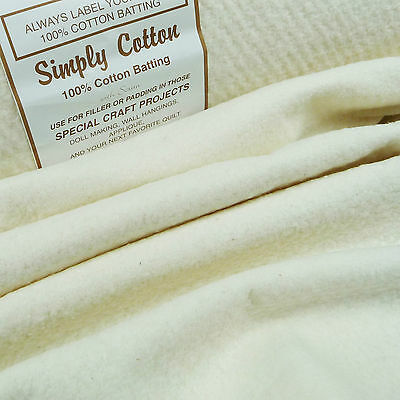 "Simply Cotton 100% Wadding 44"" / 110cm / batting quilting patchwork traditional"