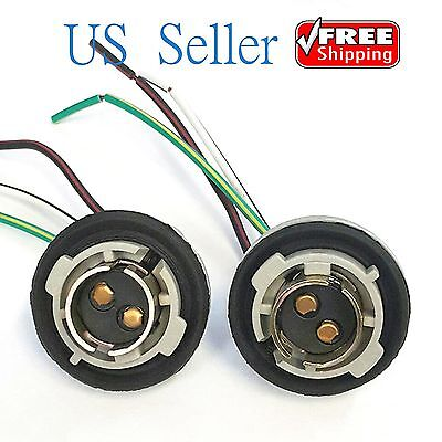 Socket Wiring (2X 1157 Turn Light Brake Bulb Socket Connector Wire Harness Plug For LED Bulbs )