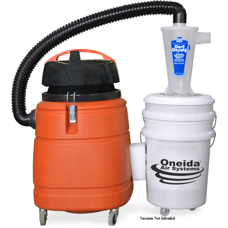 Oneida Molded Deluxe Dust Deputy Kit With Two 5-gallon Plastic Buckets
