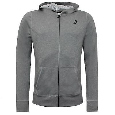 Asics Mens Tech Zip Up Hoodie Grey Sweatshirt Jumper 140926 0718