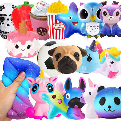 Stress Reliever Toys (Jumbo Slow Rising Squishies Squishy Mobile Squeeze Kids Toy Stress Reliever)