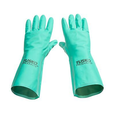 Tusko Products Best Nitrile Rubber Cleaning, Household, Dishwashing Gloves,