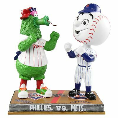 Philadelphia Philles New York Mets - Phillie Phanatic Mr. Met Bobblehead MLB