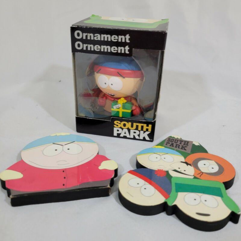 SOUTH PARK STAN CHRISTMAS ORNAMENT w/ 1997 Fridge Magnets