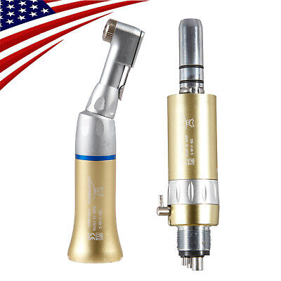 Usa Dental Slow Low Speed Contra Angle With E-type Air Motor Handpiece 4-h Gold