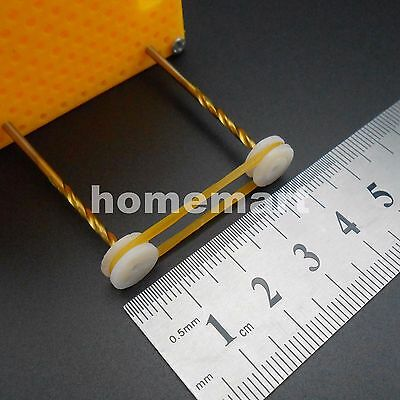 50pcs Silicone Rubber Drive Belt Pulley Model Motor Diy Toys 1.5mm X 19mm Yellow