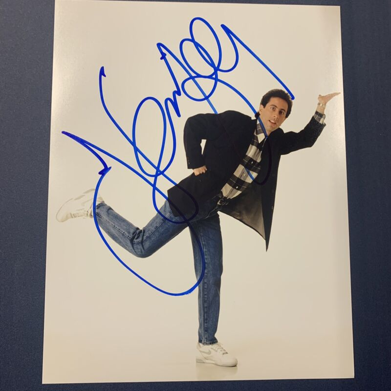JERRY SEINFELD SIGNED 11x14 PHOTO ACTOR AUTOGRAPHED SEINFELD COMEDIAN RARE COA