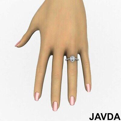 Halo French U Pave Women's Pear Diamond Engagement Wedding Ring GIA G VVS2 1 Ct 4