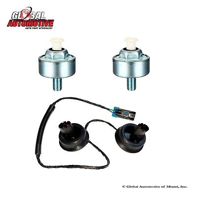 New Knock Sensor Set & Harness Kit for 1998-2007 Cadillac Chevrolet GMC Pontiac