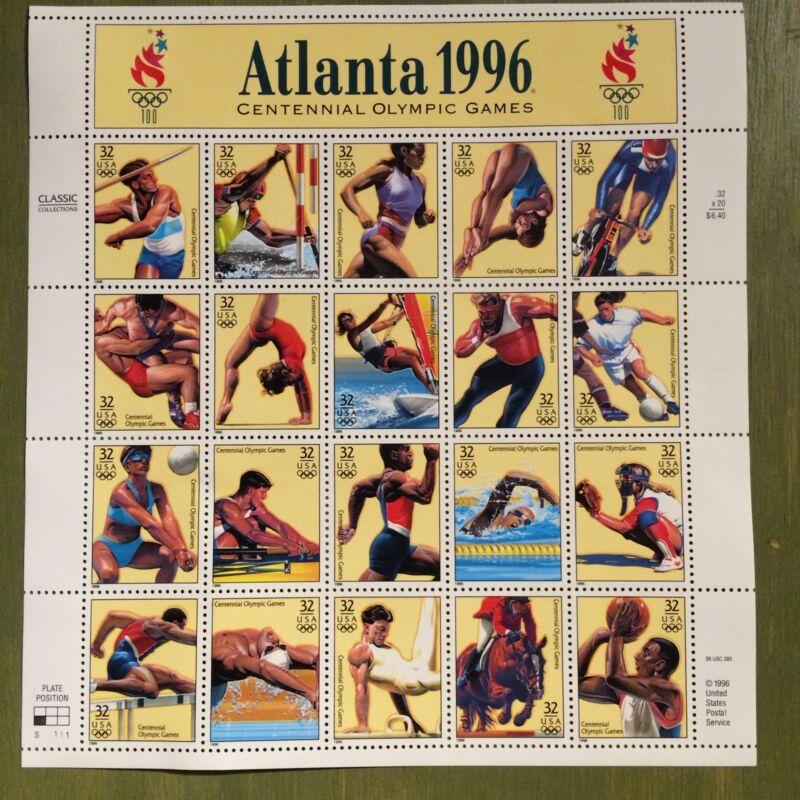Atlanta 1996 Olympic 20 x 32 Cent U.S. Postage Stamps 1996 #3068