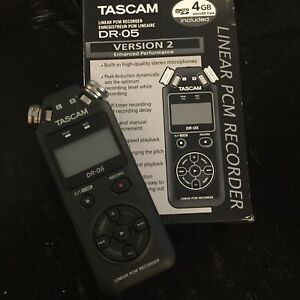 Brand new field recorder TASCAM DR-05 V.2 with 4gb MicroSD