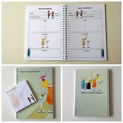 Mein Cocktailbuch A5 Rezeptbuch Meine Rezepte Notizbuch Geschenkidee