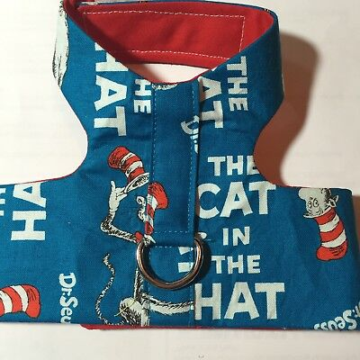Dr Seuss Cat In The Hat Handmade Dog Harness Vest S (1316)