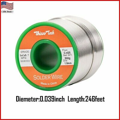 Solder Wire Lead Free Rosin Core For Electrical Solding Sn99.3 Cu0.7 500g 1mm